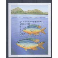 [1261] Гренада Гренадины 1999. Фауна.Рыбы. БЛОК.