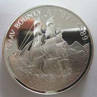 Остров Питкэрн. 1 доллар 1989. Серебро (269)