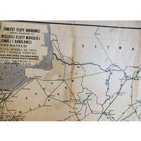 Карта Варшава 1941 год . Коммуникации Европы, Польши