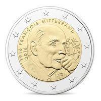 2 евро 2016 Франция - 100 лет со дня рождения и 20 лет со дня смерти Франсуа Миттерана - UNC