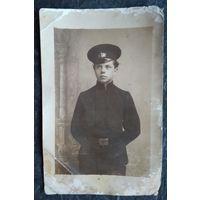 Фото ученика ремесленного училища. До 1917 г. 9х13.5 см.