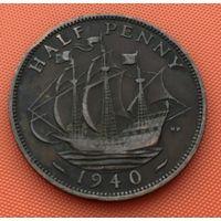 126-02 Великобритания, 1/2 пенни 1940 г.