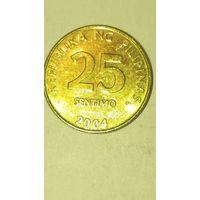 Филипины 25 сентимов 2004