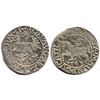 Полугрош 1561, Жигимонт Август, Вильно. Окончания легенд: Ав - LI, Рв - LITV