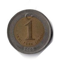 Турция. 1 новая лира. 2005 г.