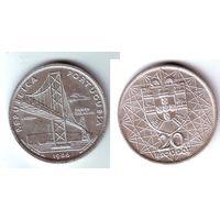 Португалия. 20 эскудо 1966 г.