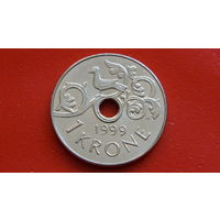 1 Крона -1999- Норвегия -*м.никель