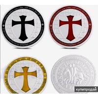 Памятная монета- жетон ОРДЕН ТАМПЛИЕРОВ (черная)