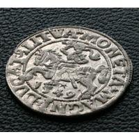 Полугрош 1549, Жигимонт Август, Вильно. Окончания легенд: Ав - LI, Рв - LITVA. Штемпельный блеск, красивое коллекционное состояние