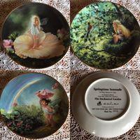 Тарелка коллекционная Волшебный сад 3 шт Англия