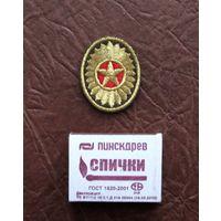 Шеврон-кокарда ВС РБ вышитый рядового состава