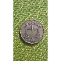 Уругвай 50 сентесимо 1981 г