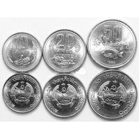 Лаос 1980  набор 3 монеты UNC