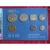 Комплект монет Аруба. 1988 г.