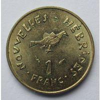 Новые Гебриды 1 франк 1975