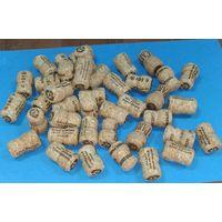Пробки корковые ( из пробкового дерева ) 45 штук