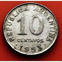 118-18 Аргентина, 10 сентаво 1953 г.