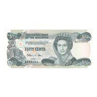 Багамы Багамские острова 1/2 доллара образца 1974 года. Редкая! Состояние UNC!