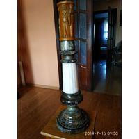 Подставка под светильник из натурального камня Яшма и Мрамор.