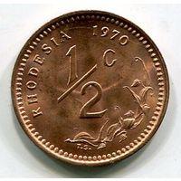 РОДЕЗИЯ - 1/2 ЦЕНТА 1970