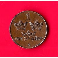09-07 Швеция 1 эре 1938г.