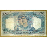 1000 франков 1945г.