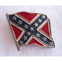 Винтажная пряжка для ремня Флаг Конфедерация Байкеры США