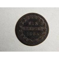 Нассау 1 крейцер 1834г