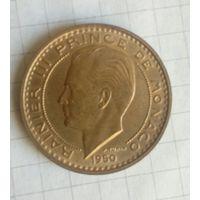 Монако  50 франков 1950г Рыцарь
