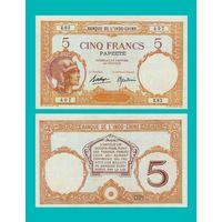 [КОПИЯ] Таити 5 франков 1927 г.