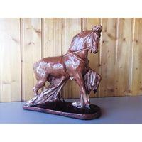 Цирковая лошадь, Гжель, майолика