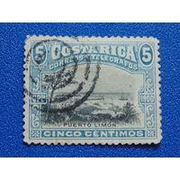 Коста-Рика 1901 г. Флора.