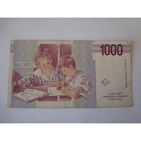 Банкнота 1000 лир, Италия.