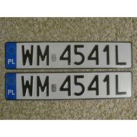 Автомобильный номер Польша WM4541L