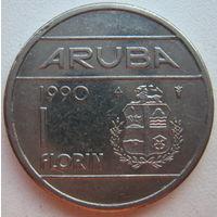 Аруба 1 флорин 1990 г.