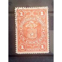Чили старенькая марочка герб страны