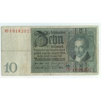 Германия, 10 марок 1929 (1924) год.