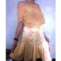 Комплект-юбка и майка летний яркий позитивный снизила цену
