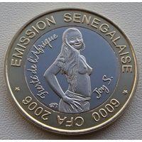 """Сенегал. 6000 франков 2006 год X#12а """"Гордость Африки-Джой С"""" Ф.А.О"""""""
