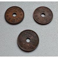Дания 1 эре, 1935 6-8-1*3