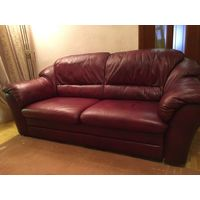 Комплект б/у диванов из натуральной кожи