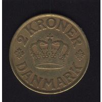 Дания. 2 кроны 1925 г. Алюминиевая бронза.