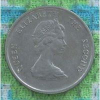 Восточные Карибские острова. Карибы 10 центов 1986 года. Корабль. Инвестируй в коллекционирование!