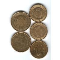 Евро и евроценты разных стран. Цена за монету. Предпочитаю обмен.
