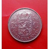 94-05 Нидерланды, 2 1/2 гульдена 1970 г.