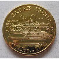 Памятная медаль Кобленц в позолоте