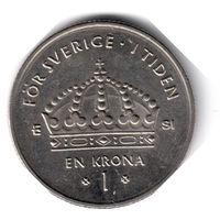 Швеция. 1 крона. 2007 г.
