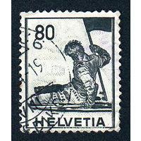 51: Швейцария, почтовая марка, 1941 год, номинал 80с, SG#408