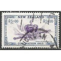 Новая Зеландия. Скипер и корона. 1953г. Mi#326.