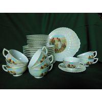Чайный сервиз, 35 предметов. Клеймо Чехословакия - Франция 1930-1940 гг